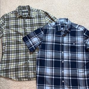 Two short sleeve button downs